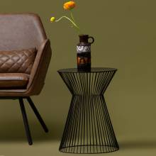 Wire Drum Side Table
