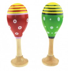 Junior Maracas Painted Wooden Instrument