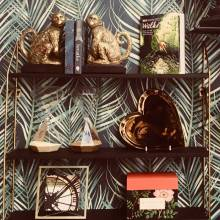 Wall Mounting Shelves With Zig Zag Metal Sides