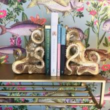 Wall mounted Gold painted metal Shelf