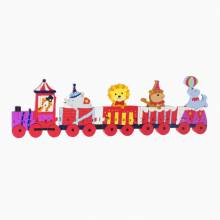 Animal Circus Train Wooden Alphabet Puzzle 1+