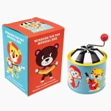 Animal Park Winding Tin Tinkletonk Musical Toy