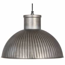 Antiqued Silver Spun Electrified Pendant Shade