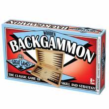 Wooden Folding Backgammon Board Game