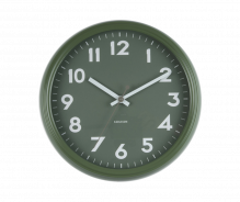 Badge Jungle Green Metal Wall Clock