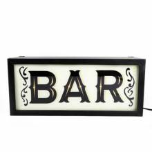 Bar Illuminated Sign Wall Mount Box Sign