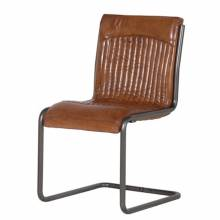 Leather and Metal Chair Bauhaus Style