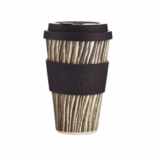 Ecoffee Cup Baumrinde With Brown Silicone 14oz