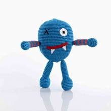 BLUE Crochet Chubby/ Ugly Monster Handmade