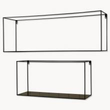 Brenton Small 70x24x24 Rectangular Black Metal Shelf