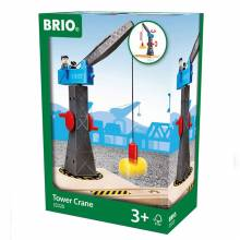 Tower Crane BRIO® Wooden Railway 3+