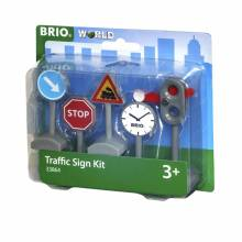 Traffic Sign Kit BRIO® Wooden Railway 33864