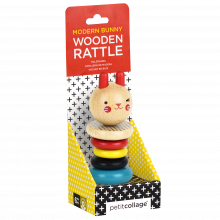 Modern Bunny Wooden Rattle 6m+