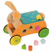 Bunny Ride On Toddler Toy With Shape Sorter