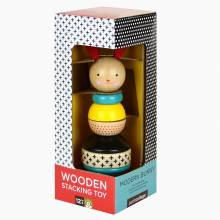 Modern Bunny Rabbit Wooden Stacking Toy 1+
