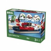 Cargo Harbour Set BRIO® Wooden Railway Age 3+