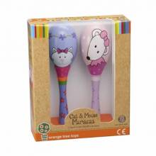 Cat & Mouse Boxed Set Of 2 Maracas 1+