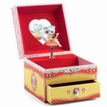 Cat Music Box With Drawer By Djeco