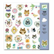 Cats Stickers Stylish 160 Sticker Pack Djeco