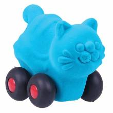 Turquoise Mini Aniwheelies Cat Toy By Rubbabu 0+