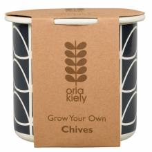 Grow Your Own Chives Enamel Pot By Orla Kiely