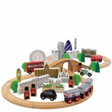 City Of London Train Set Wooden Railway 3+
