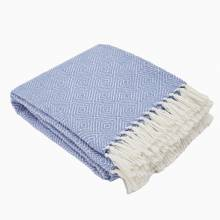 Cobalt Oxford Blanket From Recycled Bottles