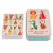 Colourful Creatures Playing Cards In A Tin