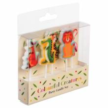 Colourful Creatures Set Of 5 Party Candles