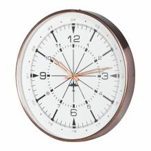 Copper Finish Airport Wall Clock Small 44cm