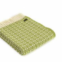 Cosy Green Cob Weave Throw Blanket 150x200