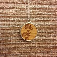 Cow Parsley Wooden Necklace On Chain By Maria Allen