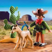 Cowboy With Foal Playmobil 5373