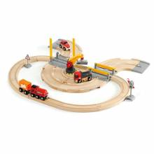 Rail & Road Crane Set BRIO® Wooden Railway 3+