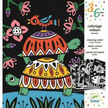 Creepy Crawlies Colouring Velvet Set By Djeco 3-6yrs