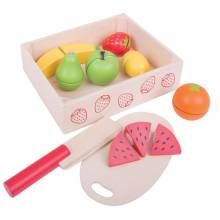 CUTTING FRUIT Wooden Food In Wooden Box