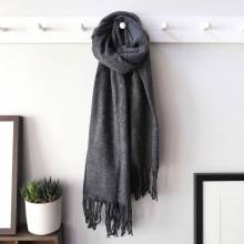 Dark Grey Lambswool Scarf