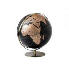 Black And Copper Globe DOUBLE AXIS 25cm