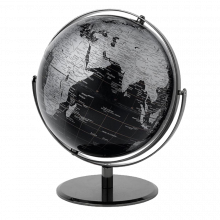 Black And Silver Globe Double Axis 43cm
