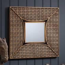 Square Fretwork Mirror Decorative 61cm