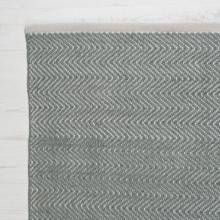 Herringbone GREY 150x90cm Recycled Bottle Rug