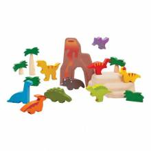 Wooden Dinosaur Play Set By Plan Toys 3+