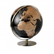 Black And Copper Globe Double Axis 30cm