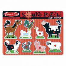 FARM ANIMAL Sound Puzzle By Melissa And Doug.