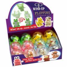 Table Top Flipping Pets In Egg Wind Up Toy