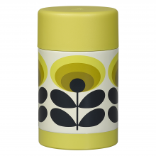 Yellow 70s Oval Flower Food Flask 500ml By Orla Kiely