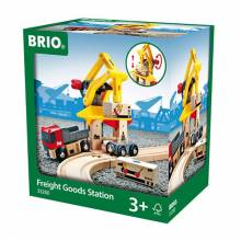 Freight Goods Station BRIO® Wooden Railway Age 3+