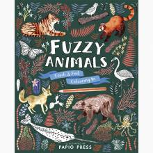 Fuzzy Animals Touch And Feel Colouring Book