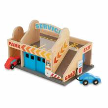 BACK 2018Service Station Parking Garage Toy By Melissa & Doug 3+