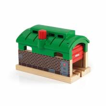 Train Garage BRIO® Wooden Railway Age 3+